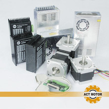 ACT Motor 3Axis Nema34 Stepper Motor 34HS9820B 890oz 98mm 2A 8Lead Dual Shaft+Driver DM860 7.8A 50V+Power US DE IT SP FR JP Free
