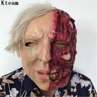 2017 New Super Scary Devil Zombie Mask Halloween Cosplay Party Horror Monster Skull Mask Latex Fancy