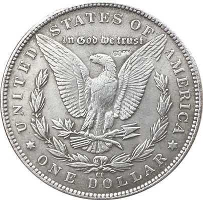 Hobo Nikkel 1890-CC VS Morgan Dollar MUNT COPY Type 109