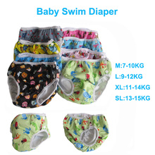 2017 Baby Swim Diaper TPU Waterproof Baby Swimwear Leakproof Newborn Swim Diaper Reusable Baby Swimming Nappies S M L XL SL 0-3T