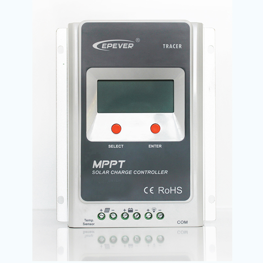 Tracer 2210A MPPT Solar Charge Controller 20A 12V 24V Auto Switch LCD Solar Panel Battery Regulator Charge Controller Max 520W tracer 4215b 40a mppt solar panel battery charge controller 12v 24v auto work solar charge regulator with mppt remote meter mt50
