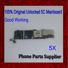 Free Shipping,100% Test & Factory 5C Motherboard,16G Original Unlocked For iphone 5C Mainboard with Chips,Good Working,5Pcs/Lot