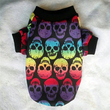 Skull Dog Clothes Autumn Winter Pet Clothes for Small Dog Pet Coat Jacket Outfit shih tzu Yorkies Puppy Chihuahua Dog Clothing