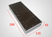 Fast Free Ship Shovel Plate Type Heatsink High Tooth Radiator Aluminum Heatsink 120 50 200mm Cooler