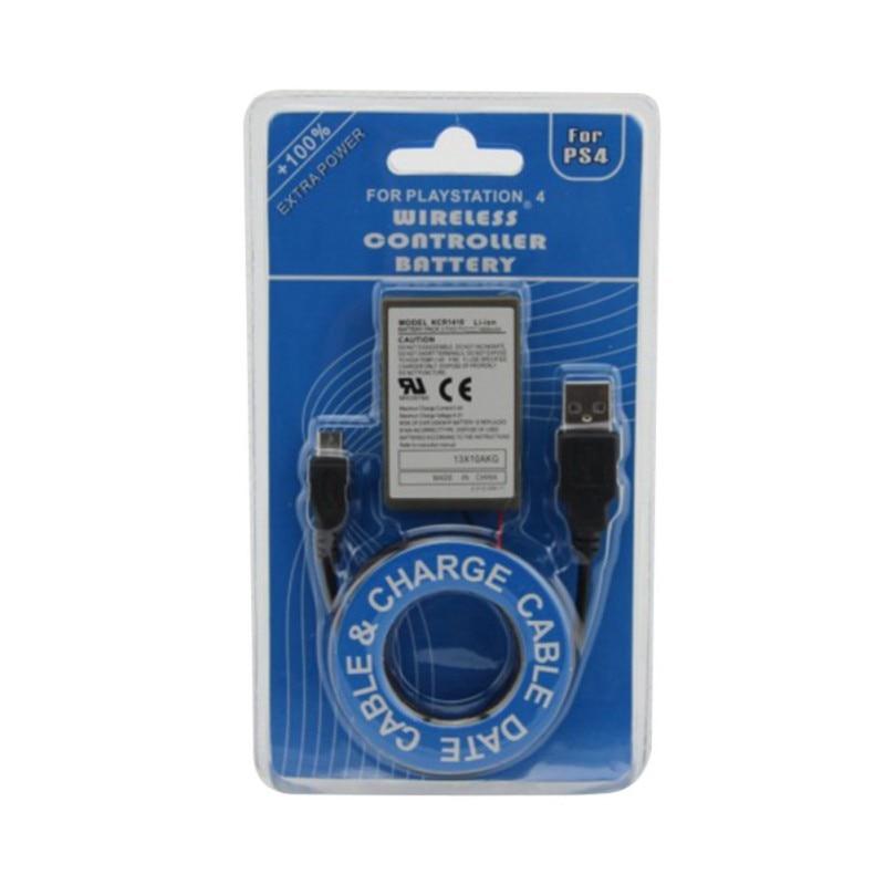 1 Pc Akkus 2000 Mah Akku Usb Ladegerät Kabel Für Sony Gamepad Ps4 Batterie FÜr Ps4 Wireless Controller Verschiedene Stile