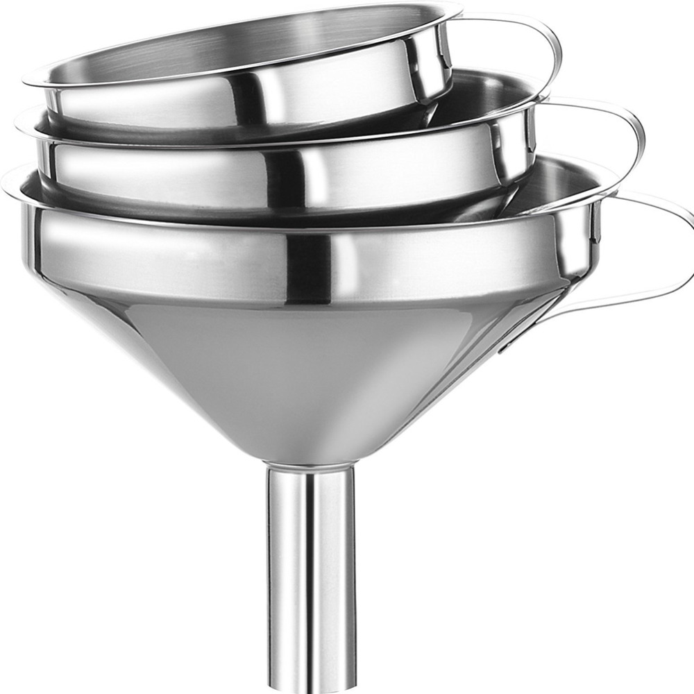 3PCS/Set High quatily Kitchen Funnels Stainless Steel Kitchen Tools ...