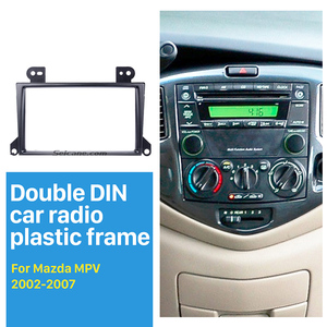 Seicane Popular 2 Din Car Radio Fascia for 2002-2007 Mazda MPV Dash Mount Trim Panel CD DVD Player Installation(China)