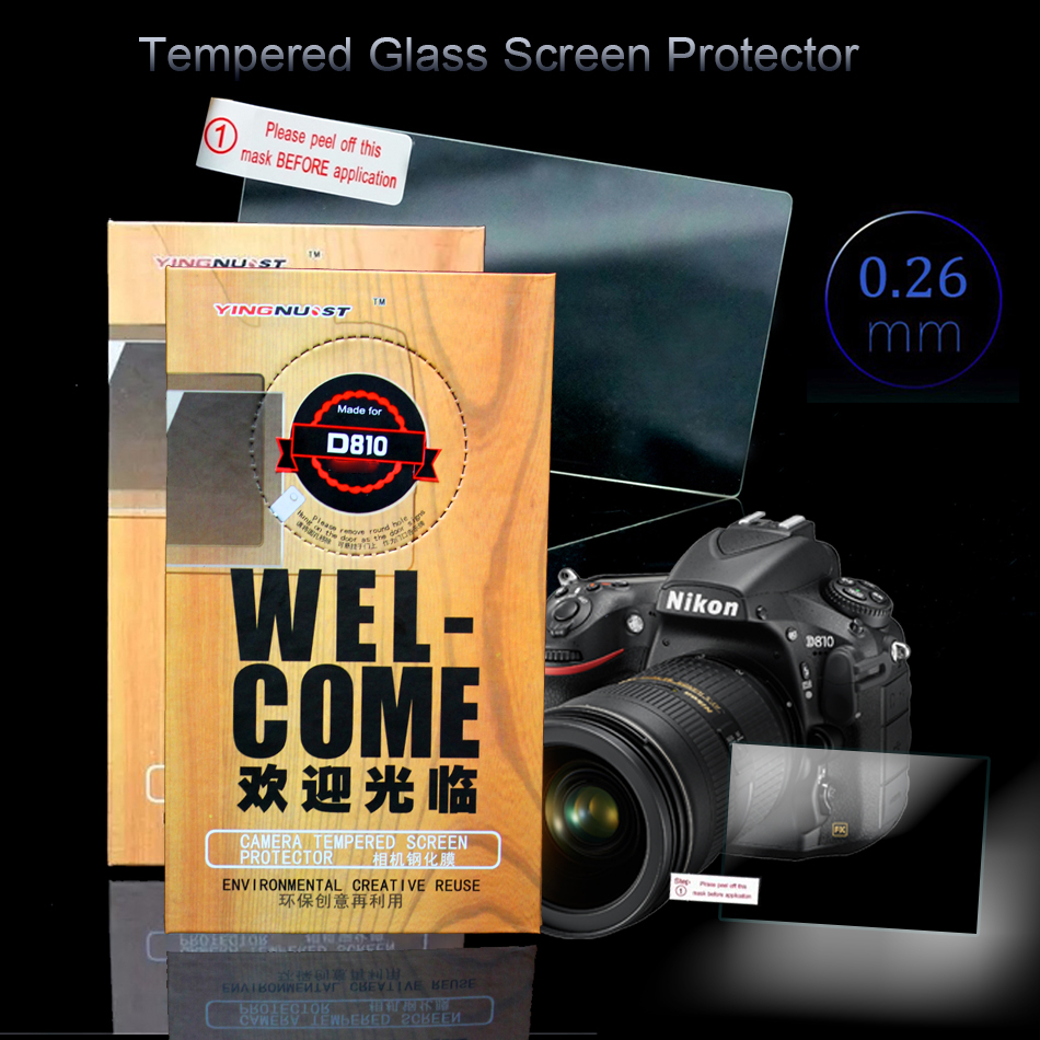 LCD Tempered Glass Screen Protector For Nikon D800 D810 Special Screen HD 3 INCH Camera Screens Toughened Glass Protective Film
