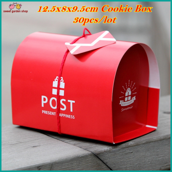 30pcslot 125x8x95cm Post Box Shape Geschenk Box Gift