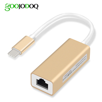 GOOJODOQ USB C Ethernet Adapter 10/100Mbps Type C RJ45 Lan Adapter USB-C Type-C Network Card USB Ethernet for MacBook RTS8152