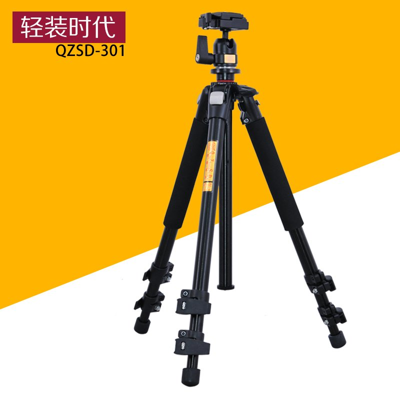 QZSD Q301 Professional Tripod For SLR Cameras Photographic Ball Head Action Camera Stand Accessories Tripode Trepied Photo