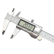 Discount! Electronic Rule Vernier Caliper Digital Display Measuring Instruments Silver