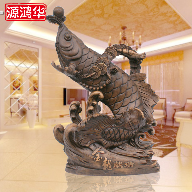 Factory direct resin crafts gift custom Ruiyu wooden ornaments Home Furnishing Jinlong offer decoration decoration