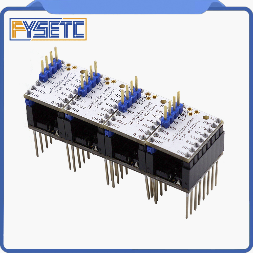 4pcs MKS TMC2130 V1.1 For SPI Function Stepstick Stepper Motor Driver + 4pcs Heat Sink Step Stick Protector VS TMC2130 V1.0