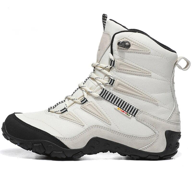 купить High Quality Women's Outdoor Leather Hiking Trekking Shoes Sneakers For Women Winter Climbing Mountain Hunting Boots Shoes Woman онлайн