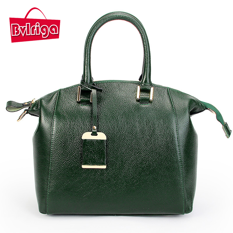 ФОТО BVLRIGA Boston bag genuine leather bag handbags women famous brands luxury handbags women bags designer women messenger bags new