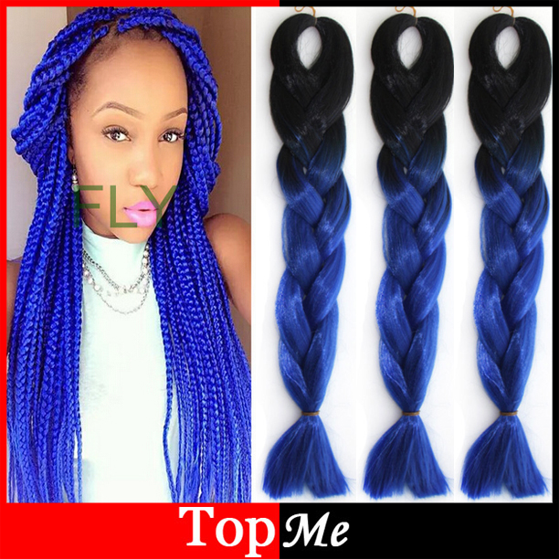 New Ombre Expression Afro Kanekalon Cornrow Women Braiding Hair