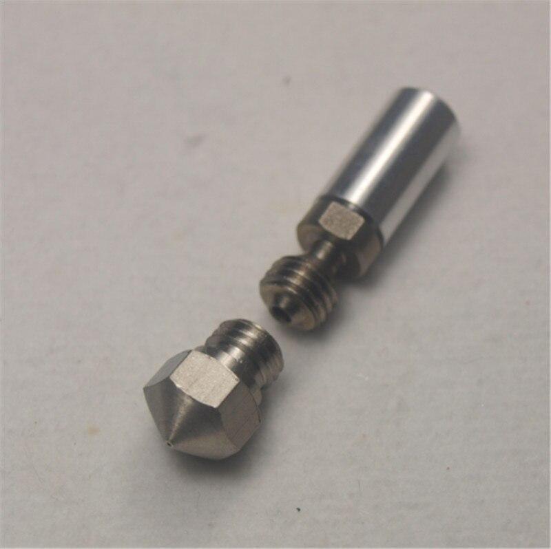 1,75mm thermische barriere rohr 0,4mm düse mk10 alle metall hotend upgrade kit für flashforge/ctc/wanhao 3d drucker
