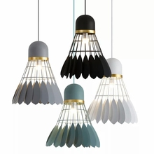 Nordic Vintage metal LED pendant light Creative personality decoration lighting Macarons Foyer bedroom restaurant lamps