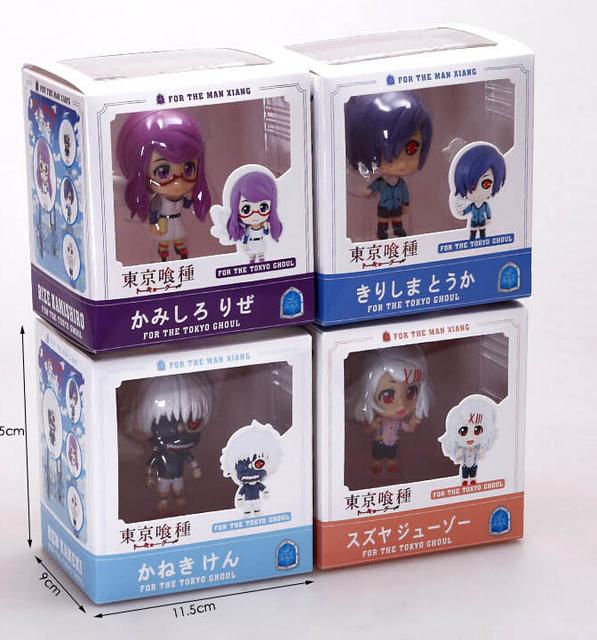 Tokyo Ghoul 8cm Kaneki Ken Touka Kirishima Rei Rize Action Figures PVC brinquedos Collection Figures toys for christmas gift