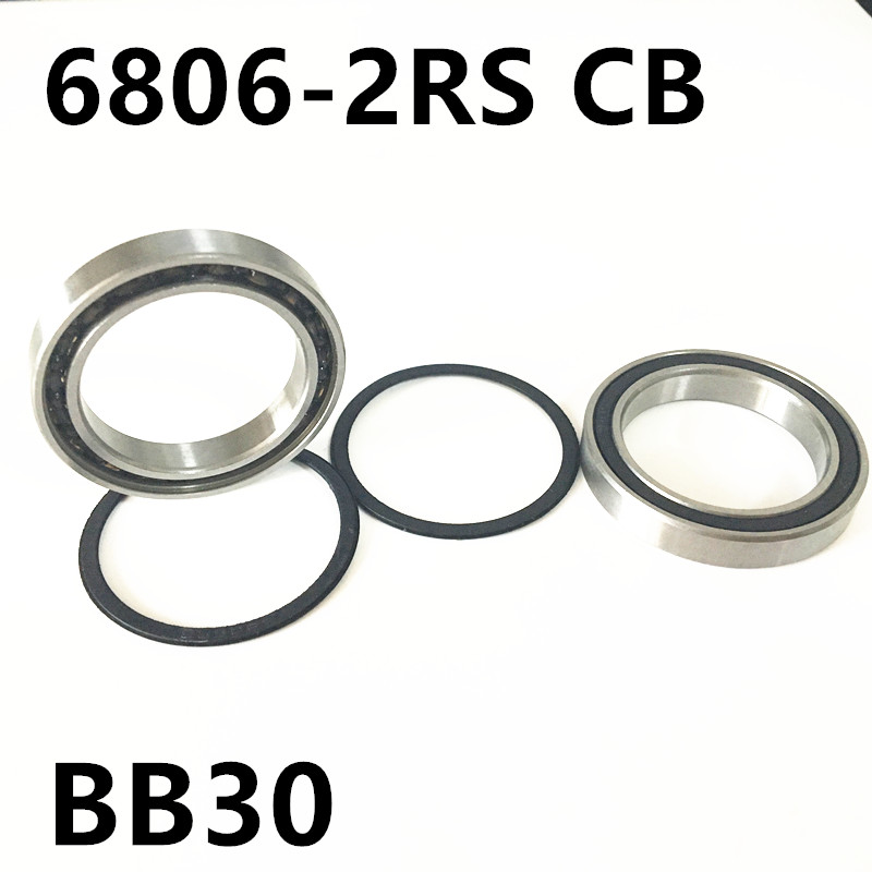 Free shipping 6806-2RS CB  61806 full SI3N4 ceramic deep groove ball bearing 30x42x7mm BB30 bike repaire bearing free shipping 6806 full zro2 ceramic deep groove ball bearing 30x42x7mm 61806 full complement