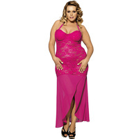 Mujer Sexi Plus Size Lingerie Sexy Hot Erotic Lingerie Sexy Underwear Women Lace Perspective Babydoll Long Erotic Dress Pajamas