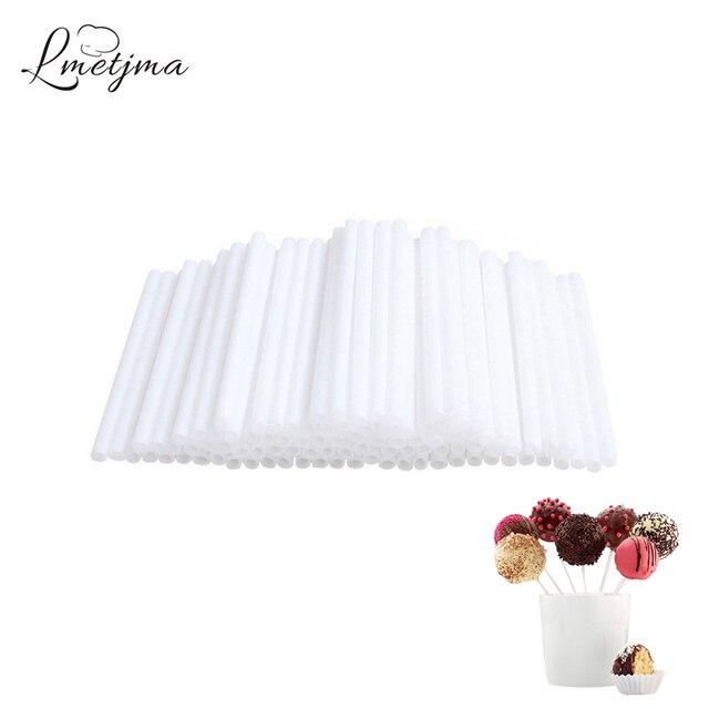 LMETJMA 50 stks 15 cm Lollipop Sticks Bpa-vrij Cake Pop Sticks Voor Chocolade Suiker Snoep Lollipop Sticks Voor Cake Pops PYKC1010-2