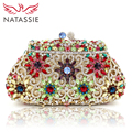 NATASSIE Women Crystal Clutch Wedding Bag Ladies Evening Bags Female Party Clutches Purses