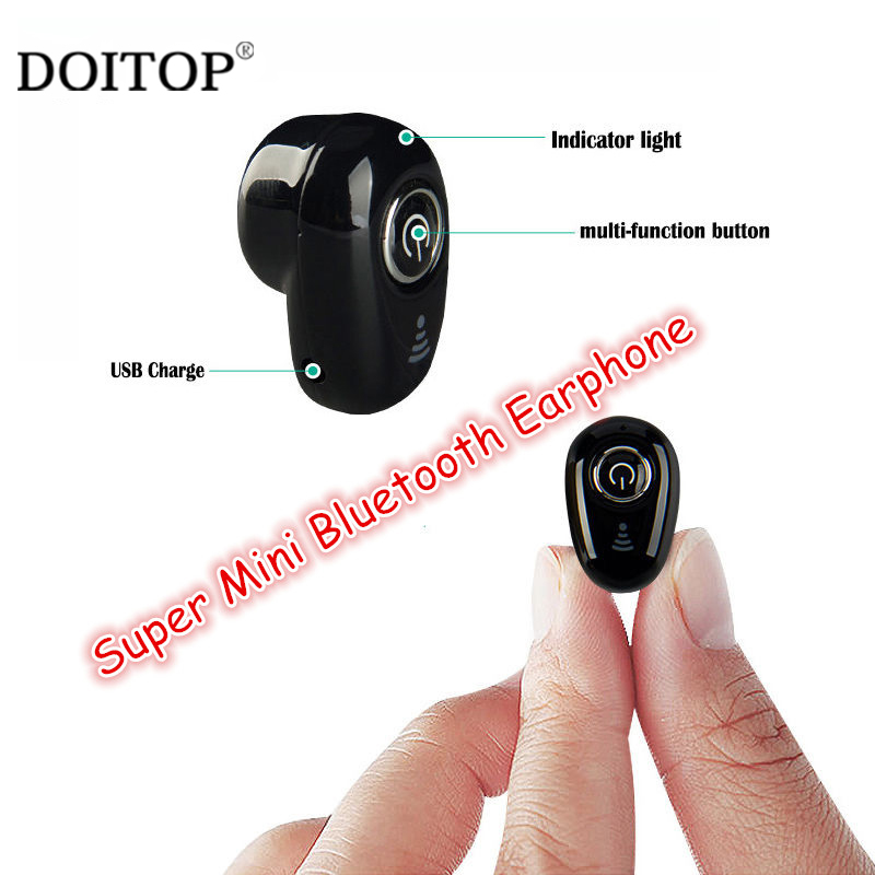 цена на DOITOP Newest Mini Wireless Bluetooth Stereo Earphone Earbuds For Smart Phone In-ear Earphones For iphone Samsung Earset Headset