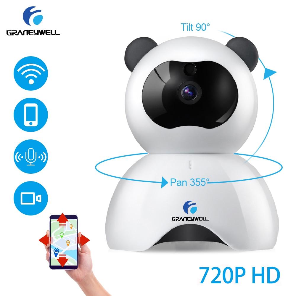 GRANEYWELL 720P HD Беспроводная ip камера P2P Обнаружение движения ночное видение детский монитор CCTV Домашняя безопасность видеонаблюдения Videcam