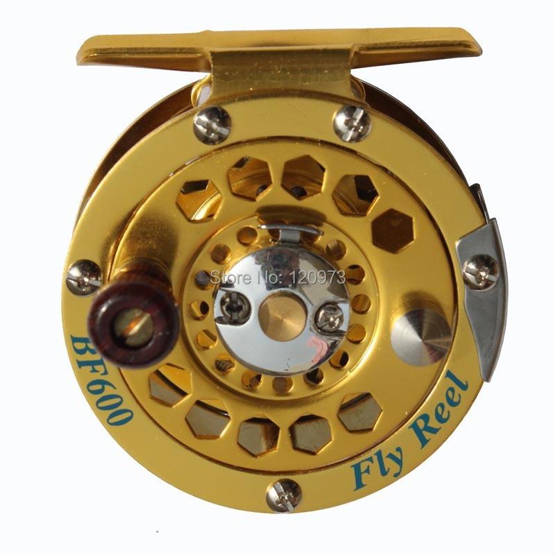 Aluminum Fly Fishing Reel BF600--3/4# / Full Metal Ice Wheel / Raft Reel Wholesale Free Shipping