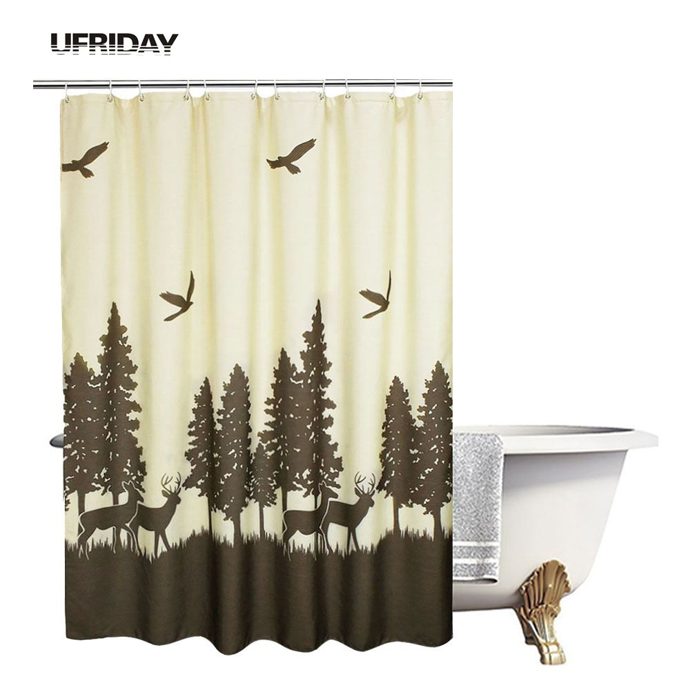UFRIDAY Natuurthema Douchegordijn Modern Design Polyester - Huishouden