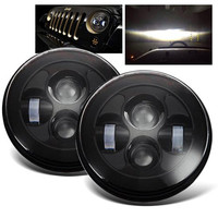 7inch 40w Round H4 LED Headlight For Jeeps Wrangler Front Driving Headlamp Car Styling Head Light