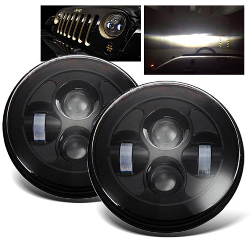 7inch 40w Round H4 LED Headlight for Jeep Wrangler Front Driving Headlamp Car Styling Head Light for Hummer LandRover 50w led motorcycle headlight 7 round harley projector daymake headlamp for jeep wrangler hummer landrover headlight kit