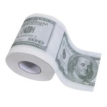 Новая забавная туалетная бумага с принтом доллара Билла, туалетная бумага, рулонный кляп, рулон туалетной бумаги, новинка, Забавный поцелуй, подарок, шутка, W3