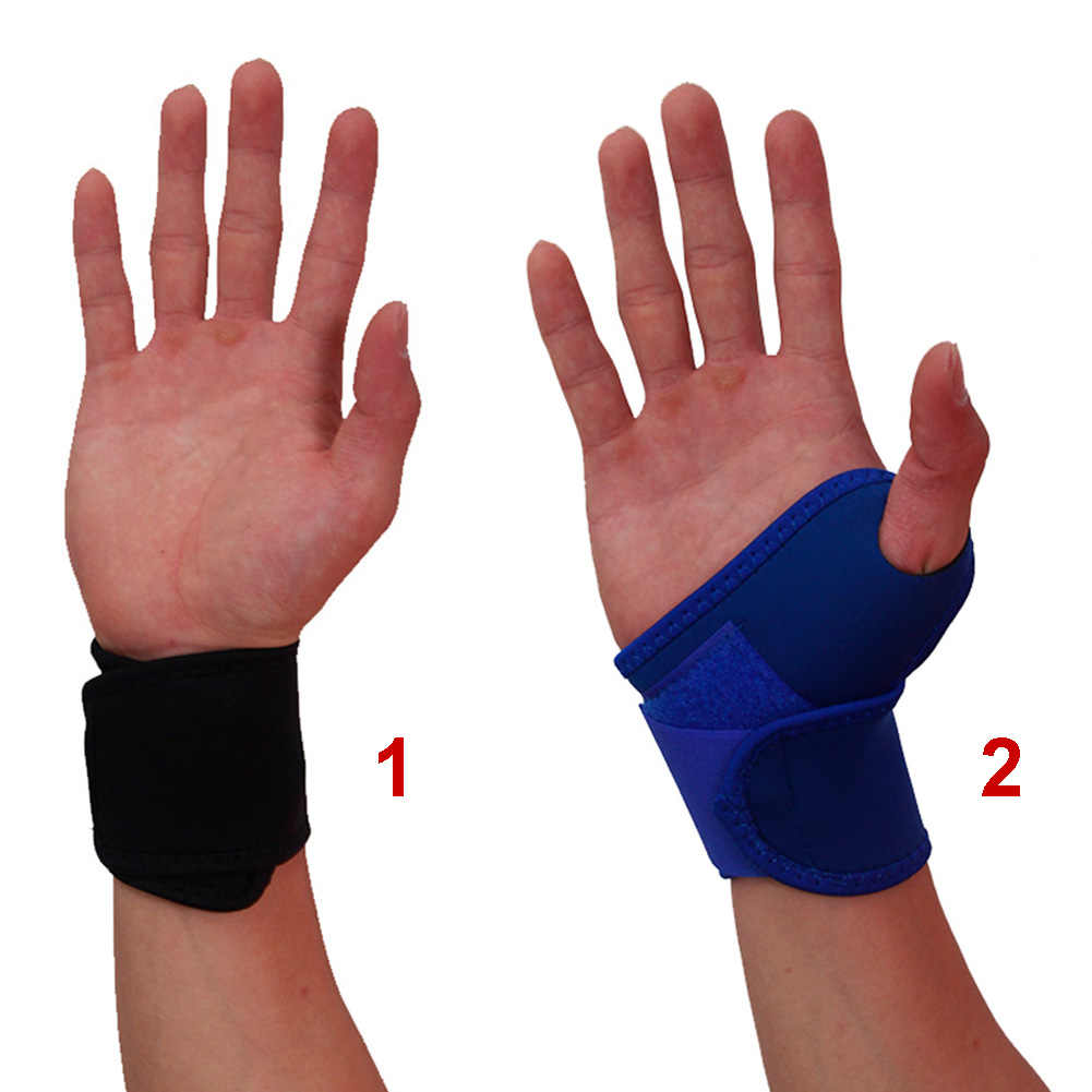 14d0bd3907 ... 1 Pair Wrist Brace Weightlifting Tendonitis Sport Fitness Adjustable  Support Soft Breathable Carpal Tunnel Basketball Outdoor ...