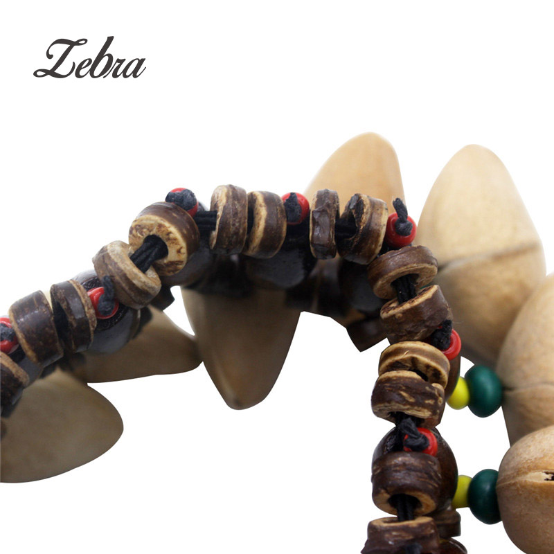 Zebra Handmade Nuts Shell Bracelet Handbell For Djembe African Drum Percussion Part Accessories  Handbell Shell Accompaniment