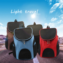 Bag Backpacks Mesh Comfort Travel Dog Carriers Fashion Red Color Backpack Breathable Pet Puppy Carrier