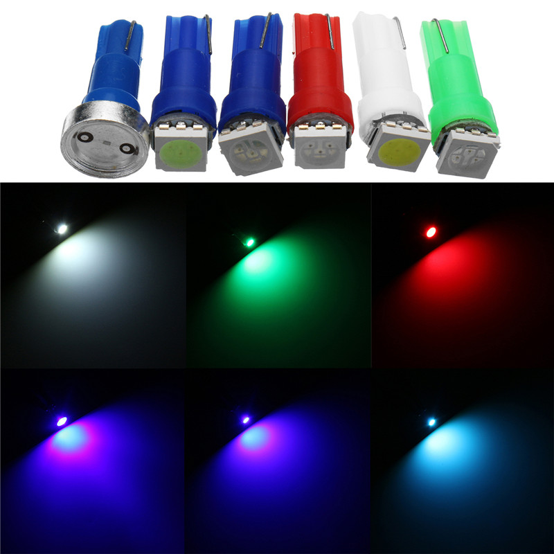 85pcs/set T5 Dashboard Light Bulb 5050 LED Wedge Dash Instrument Panel Light Ice Blue Red Blue Green White DC12V uxcell 10 pcs ice blue 3020 smd led vehicles car dashboard dash light lamp internal