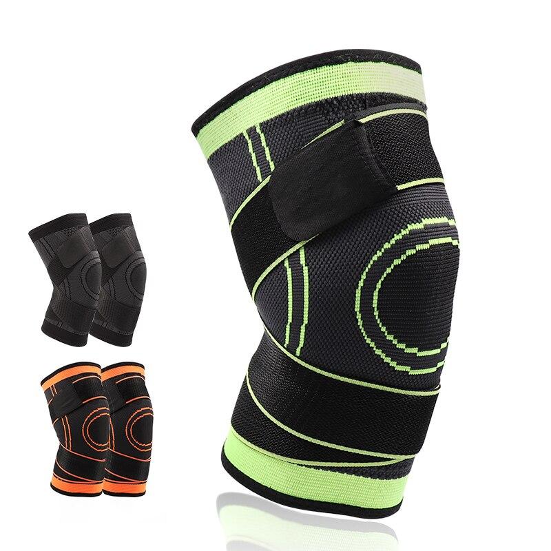 5XL baloncesto directo senderismo ciclismo rodilla rodillera soporte 3D tejido presurizado correas vendaje deportes de rótula guardia 1 unid
