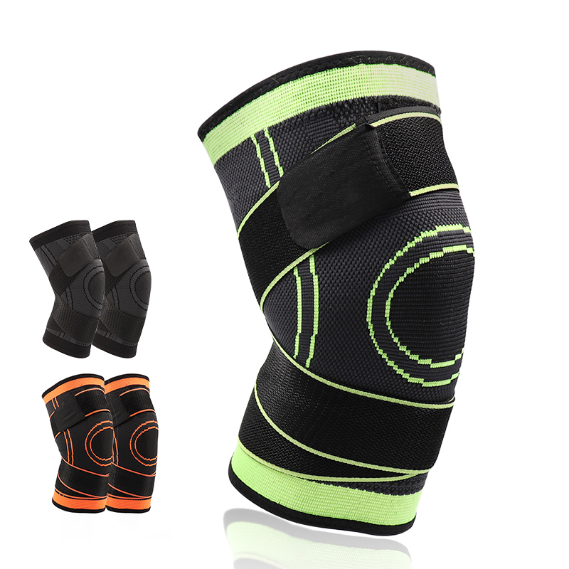 5XL basket tennis escursionismo escursioni in bicicletta ginocchio brace supporto 3D tessitura Cinghie vestito dalla fasciatura Sport Pressurizzato ginocchiere Patella Guardia 1 pz