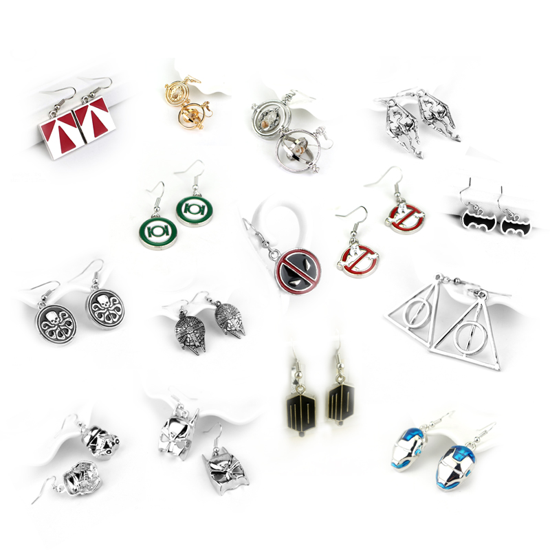 19 Types Movie Earrings Game Of Thrones Deadpool Star Wars Doctor Who Resident Evil Jewelry Gift For Fans Drop Shipping