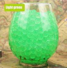 100pcs/lot Large Hydrogel Pearl Shaped Big 2-3cm Green Crystal Soil Water Beads Mud Grow Ball Wedding Orbeez Growing Bulbs(China)