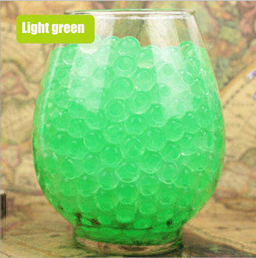 100pcs/lot Large Hydrogel Pearl Shaped Big 2-3cm Green Crystal Soil Water Beads Mud Grow Ball Wedding Orbeez Growing Bulbs