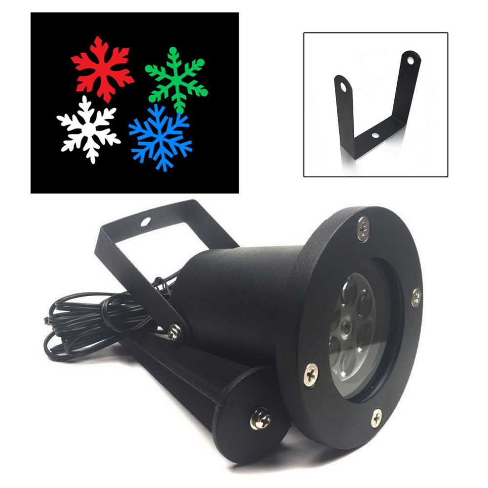 ICOCO Laser Snowflake Projector Lamp Outdoor Waterproof LED Lights Stage Light Christmas Holiday Decoration For Home Garden цена 2017