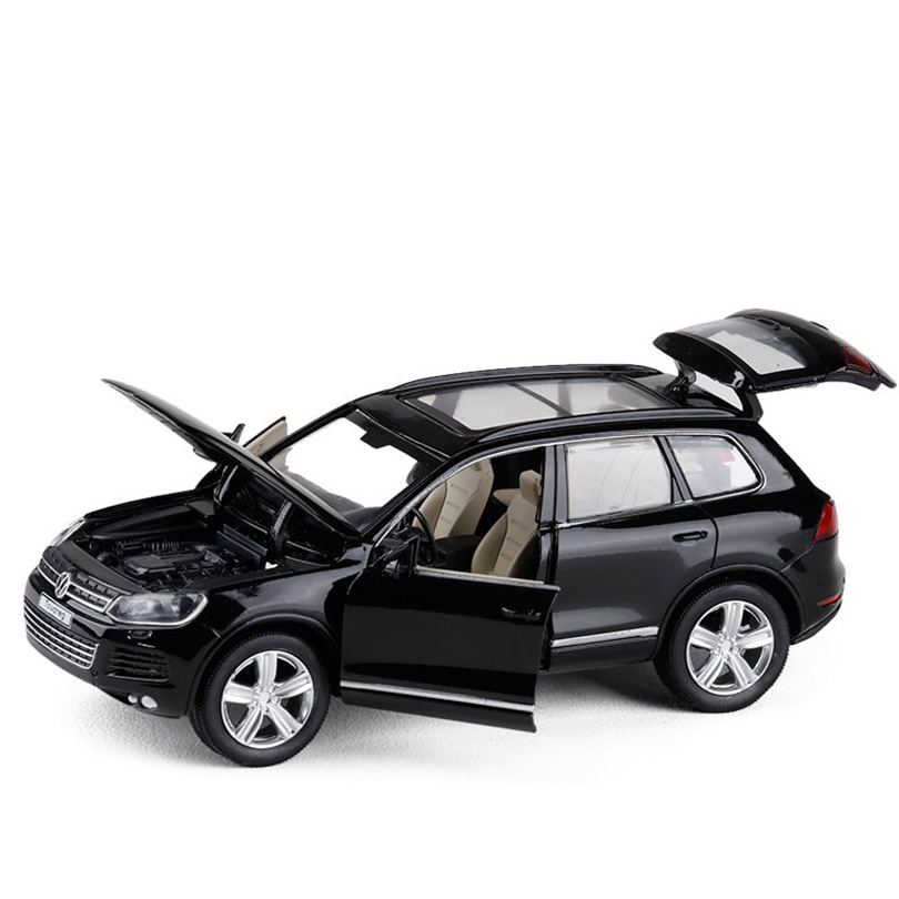 1:32 TOUAREG Simulation Toy Vehicles Model Alloy Pull Back Children Toys Genuine License Collection Gift Off-Road Vehicle Kids