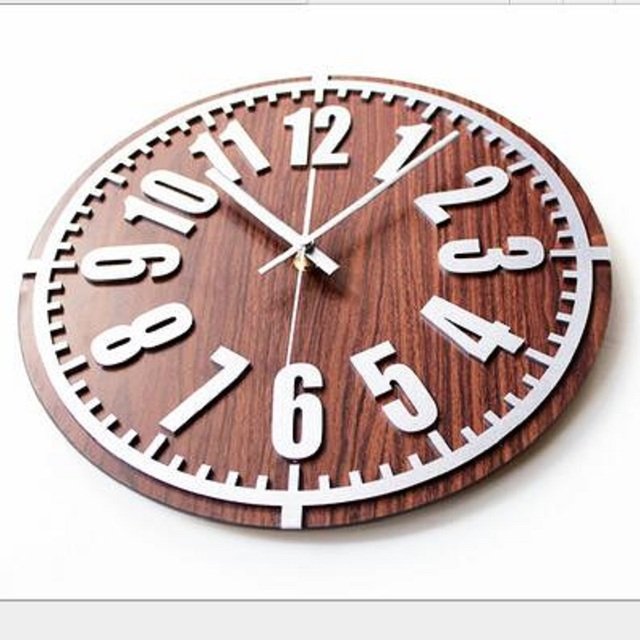 Saat Reloj Wall Clock Relogio de Parede Reloj de Pared Retro 3D stereoscopic digital metal wall clock wood hanging table Clocks