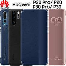 Huawei P20 pro case clear view Smart touch flip cover 100% original official P30 Pro leather phone funda