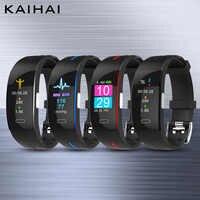 KAIHAI 2019 presión arterial reloj de pulsera PPG ECG pulsera inteligente deportes Activit fitness tracker pulsera clima smartband
