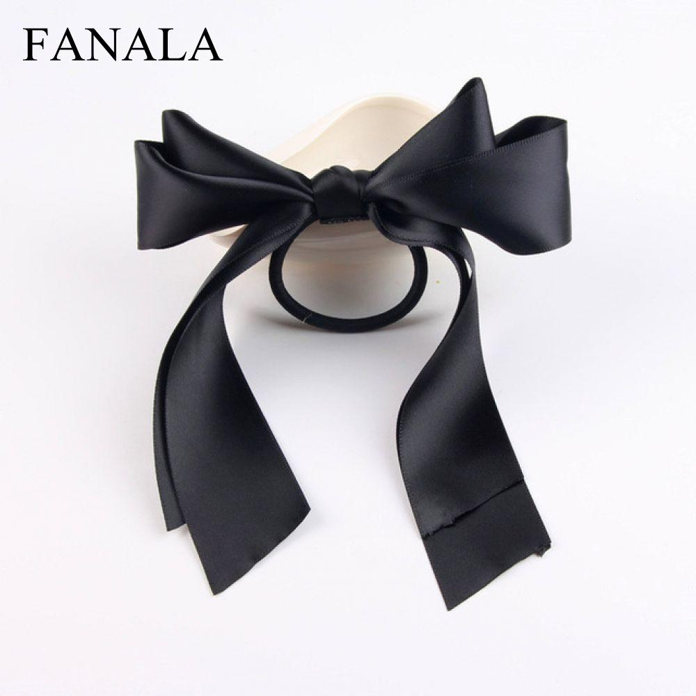 Bowknot Bow Hair   Headwear   Elastic Elastic Ribbon Women Hair Hair Accessories Sale Hair Rope Ties Large Girl Bands